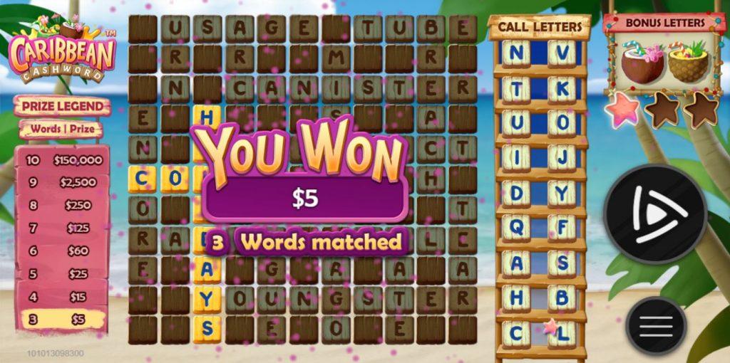Caribbean Cashword Capture_you won