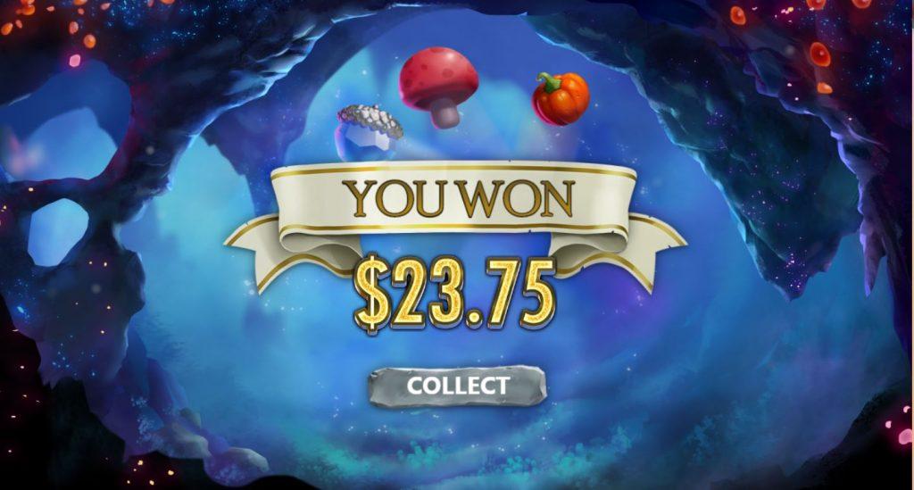 Enchanted Winnings Capture bonus you win