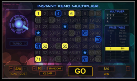 Instant Keno Multiplier main after draw + win resized