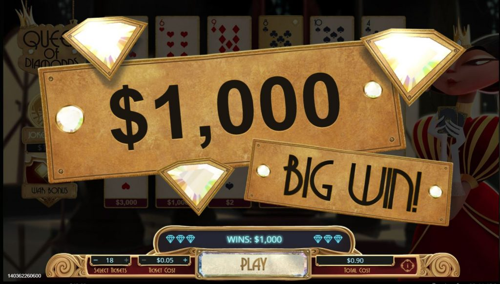 Queen of Diamonds Capture big win