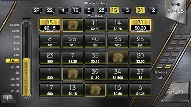 VIP Platinum uncovered bonus round