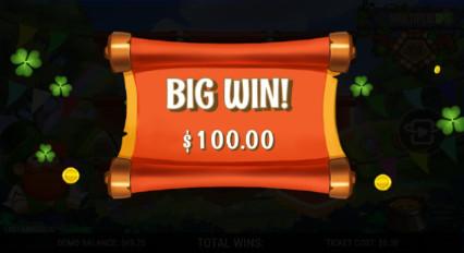 Shamrock_Winnings Big_Win Pop_up
